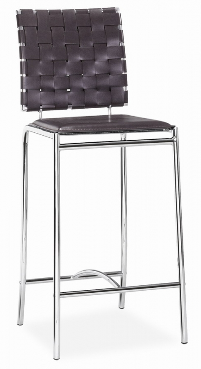 Criss Cross Counter Chair - Espresso - Zuo Modern