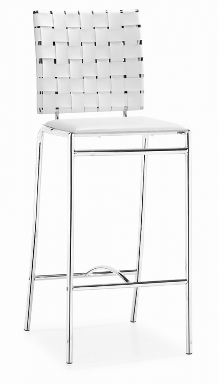 Criss Cross Counter Chair - White - Zuo Modern