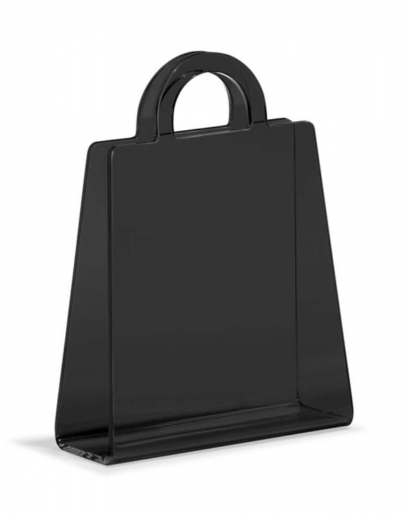 Purse Magazine Rack - Transparent Black - Zuo Modern