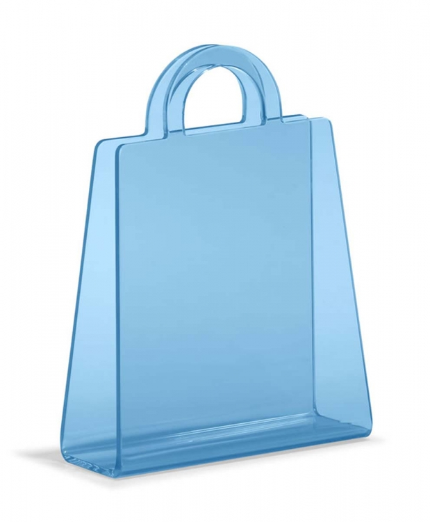 Purse Magazine Rack - Transparent Blue - Zuo Modern