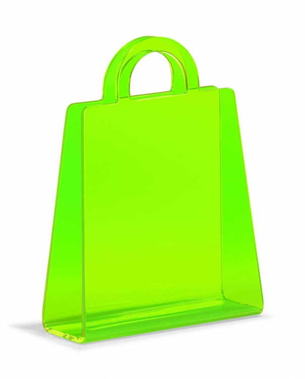 Purse Magazine Rack - Transparent Green - Zuo Modern