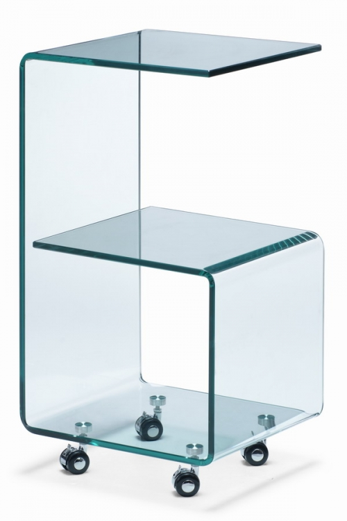 Trek Side Table - Clear - Zuo Modern