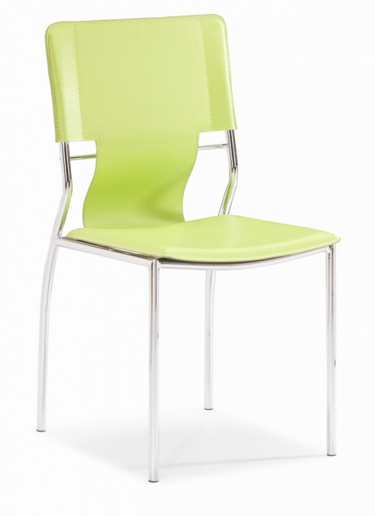Trafico Dining Chair - Green - Zuo Modern