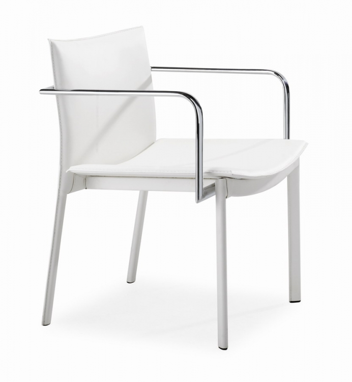 Gekko Conference Chair - White - Zuo Modern