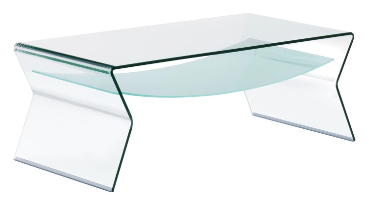 Yoga Coffee Table - Clear/Frosted