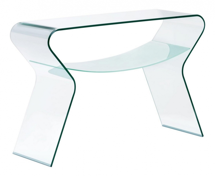 Yoga Console Table - Clear/Frosted