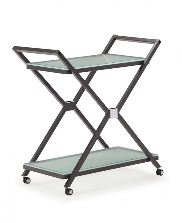 Xert Serving Cart - Gray - Zuo Modern