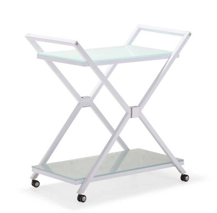 Xert Serving Cart - White - Zuo Modern