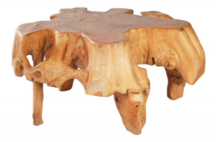 Broll Table - Natural/Antique Gold