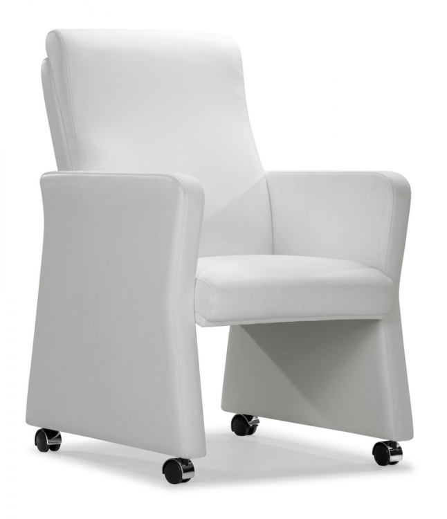 Burlarm Chair - White - Zuo Modern