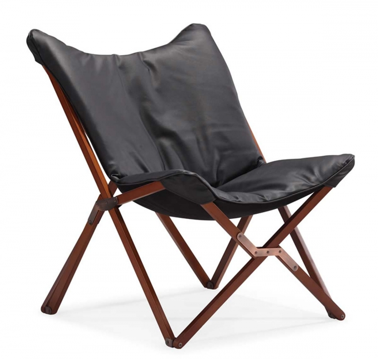 Draper Lounge Chair - Black - Zuo Modern