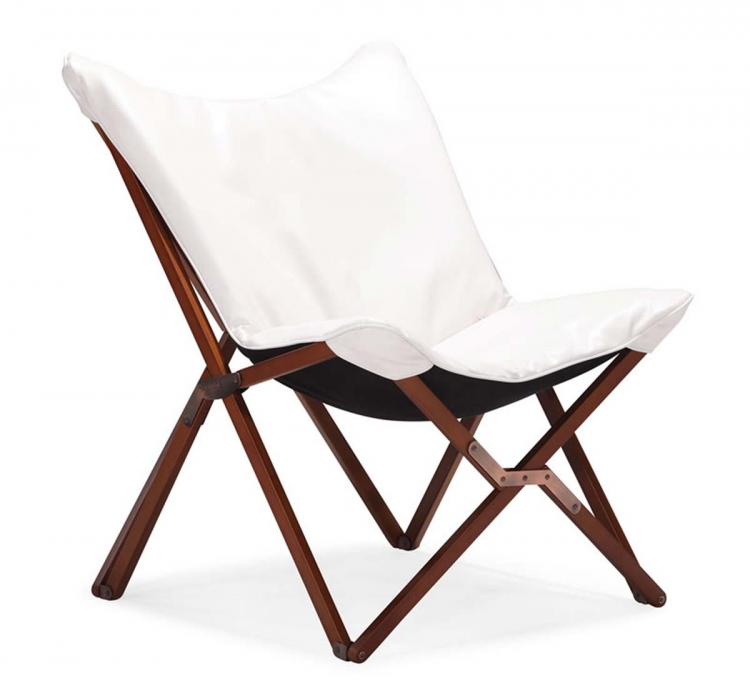 Draper Lounge Chair - White - Zuo Modern