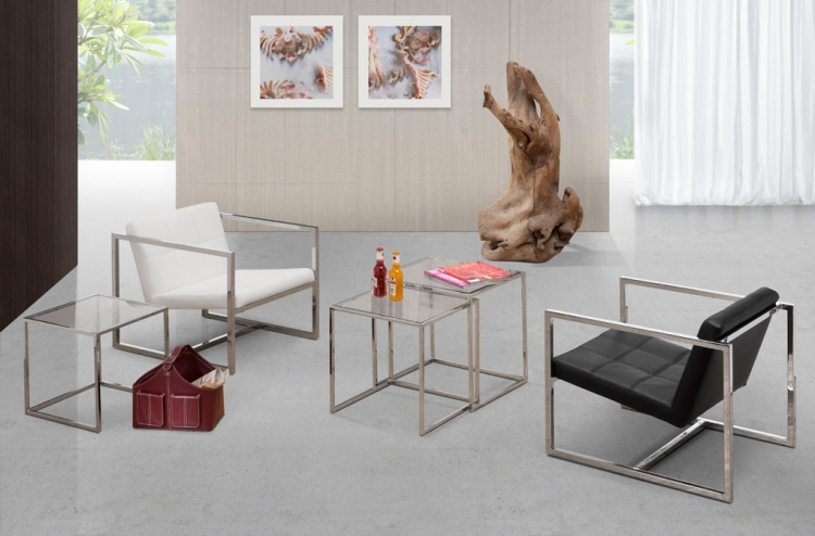 Pasos - Carbon Nesting Table and Chair Set