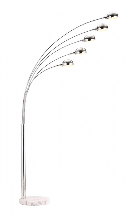 Cosmic Floor Lamp - Chrome - Zuo Modern