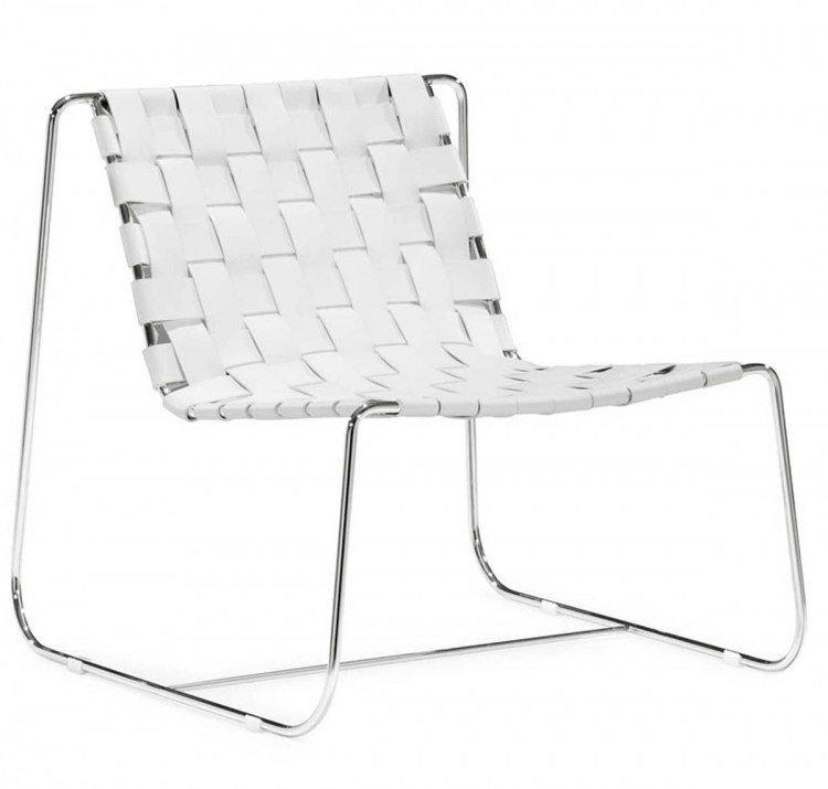 Prospect Park Lounge Chair - White - Zuo Modern