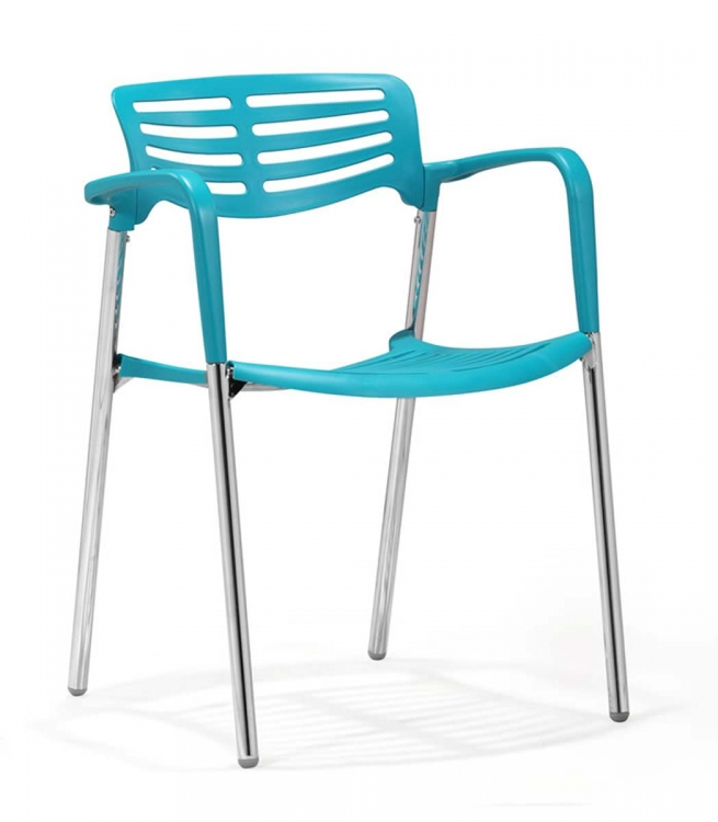 Scope Dining Chair - Blue - Zuo Modern