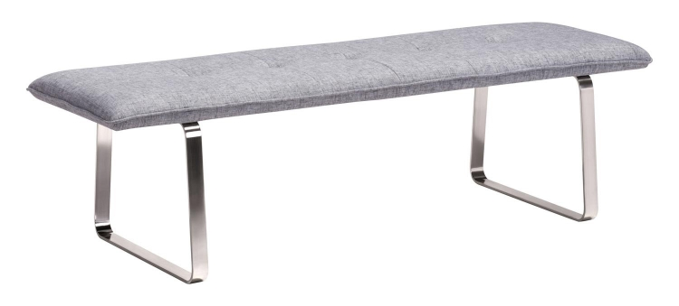 Cartierville Bench - Gray Fabric