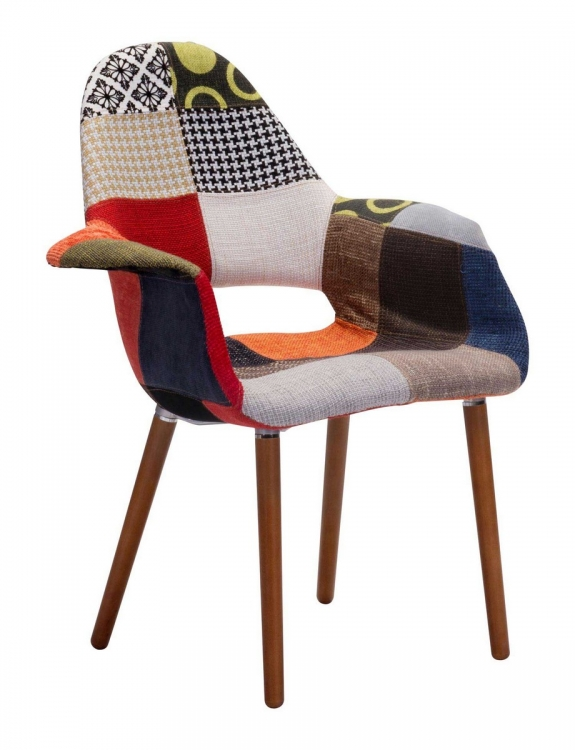 Moshe Occasional Chair - Patchwork Multicolor