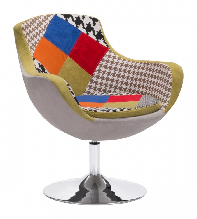 Walloon Occasional Chair - Patchwork Multicolor