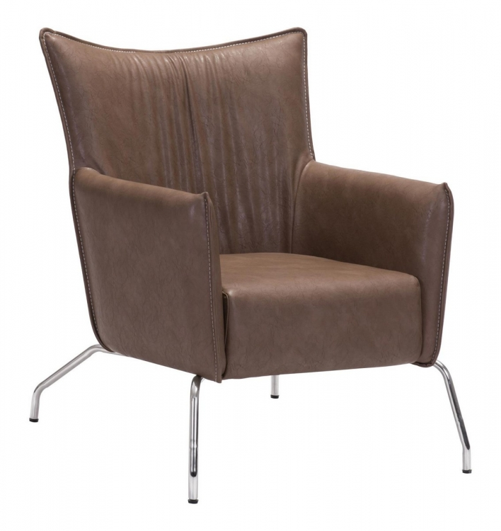 Ostend Occasional Chair - Saddle Brown