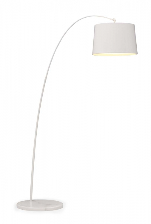 Twisty Floor Lamp - White w/ White Base