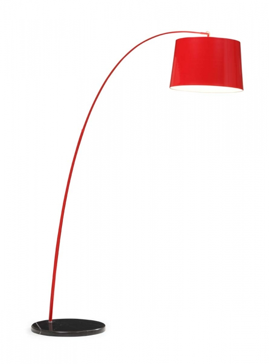 Twisty Floor Lamp - Red w/ Black Base
