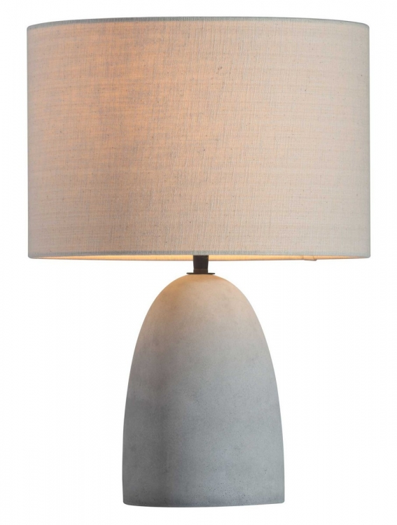 Vigor Table Lamp - Beige/Concrete Gray