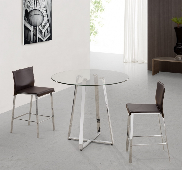 Lemon Drop - Boxter Counter Height Dining Set - Zuo Modern