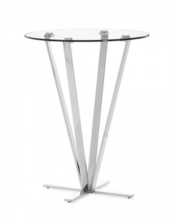 Mimosa Bar Table - Stainless Steel