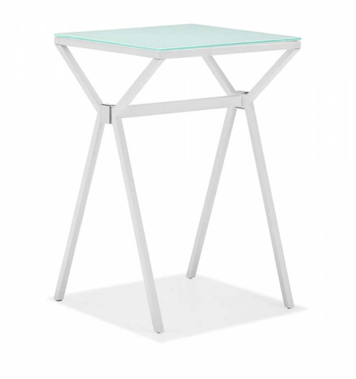Xert Counter Table - White - Zuo Modern