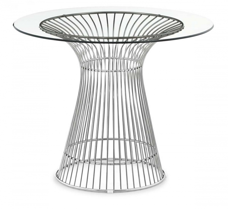 Whitby Dining Table - Stainless Steel - Zuo Modern