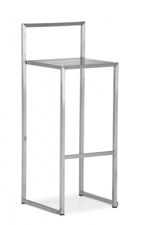 Dalton Bar Chair - Stainless Steel - Zuo Modern
