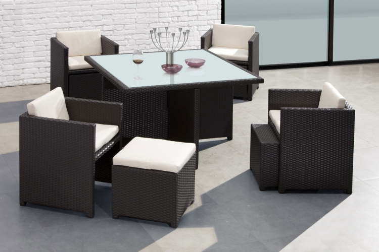 Naples Table and Seat Set - Zuo Modern
