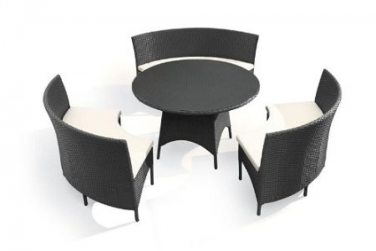 San Sebastian Table Set - Espresso - Zuo Modern