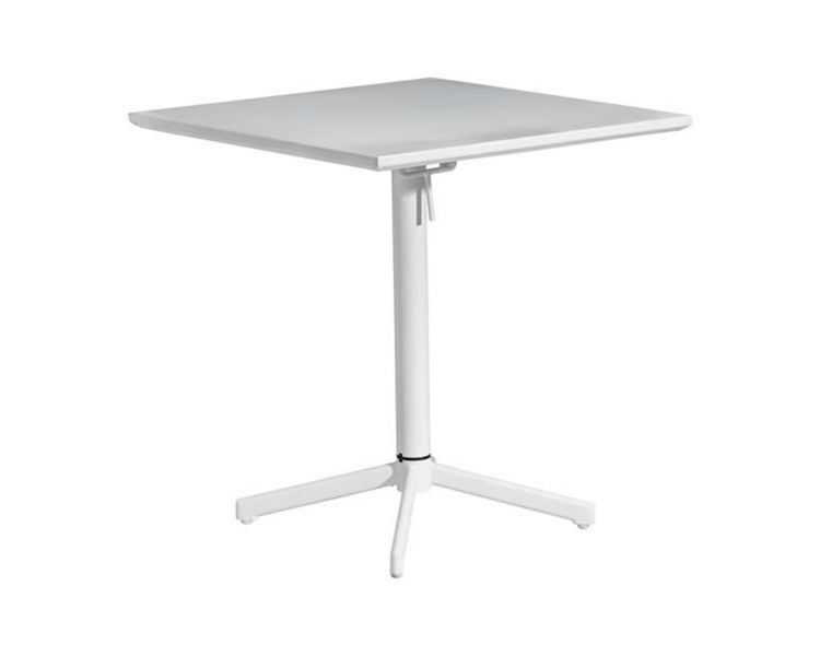 Big Wave Square Folding Table - White