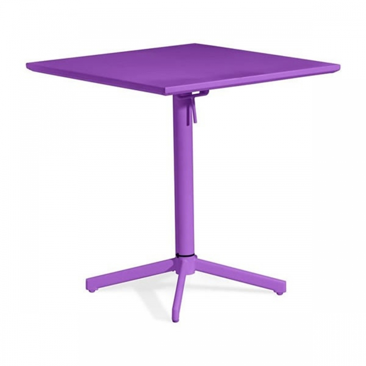 Big Wave Square Folding Table - Purple