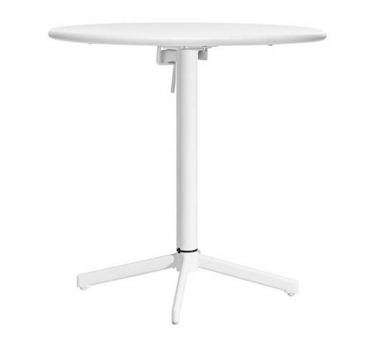 Big Wave Round Folding Table - White