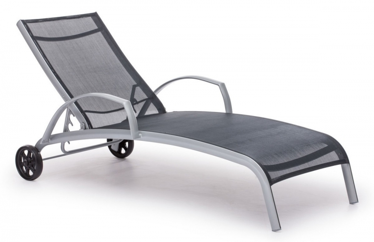 Casam Chaise Lounge - Black/Silver