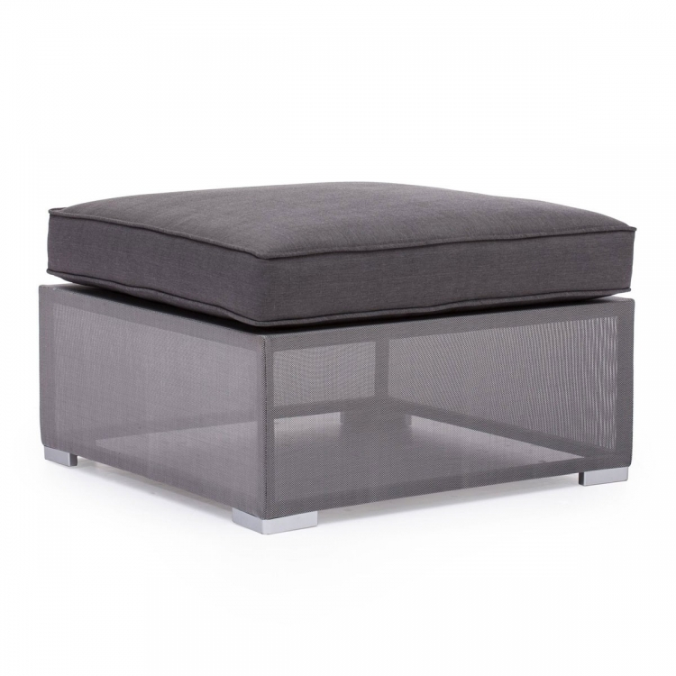 Clear Water Bay Ottoman - Gray