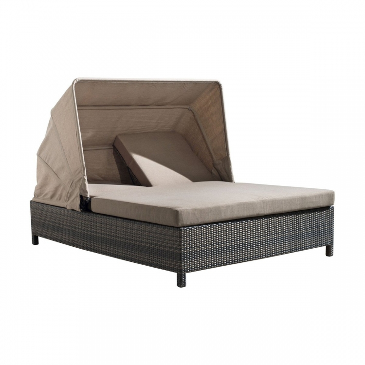 Siesta Key Double Chaise Lounge - Espresso