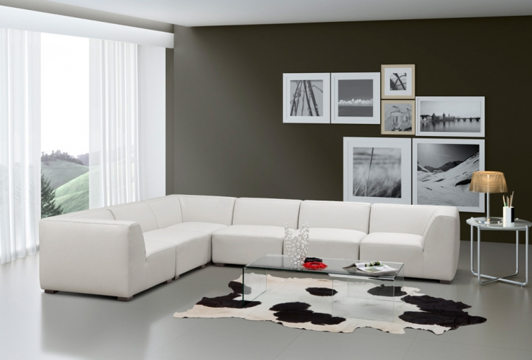 Portrait Sectional Sofa Set - White - Zuo Modern