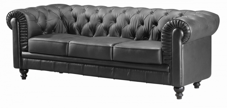 Aristocrat Sofa - Black -Zuo Modern