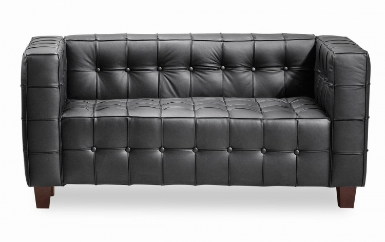Button Love Seat - Black - Zuo Modern
