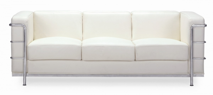 Fortress Sofa - White - Zuo Modern
