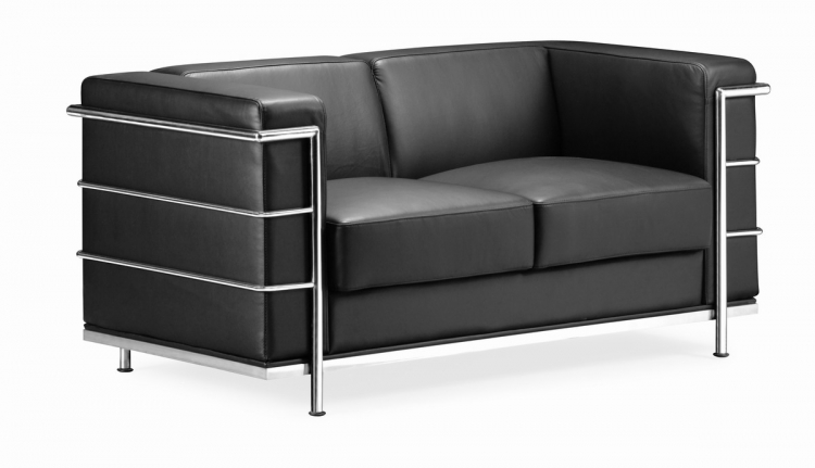 Fortress Love Seat - Black - Zuo Modern
