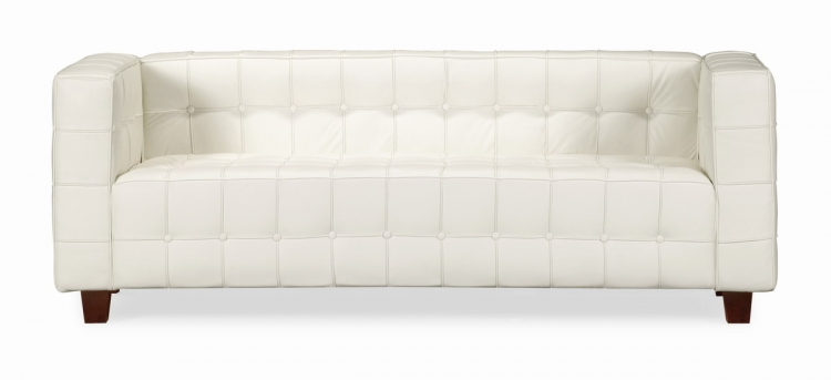 Button Sofa - White - Zuo Modern