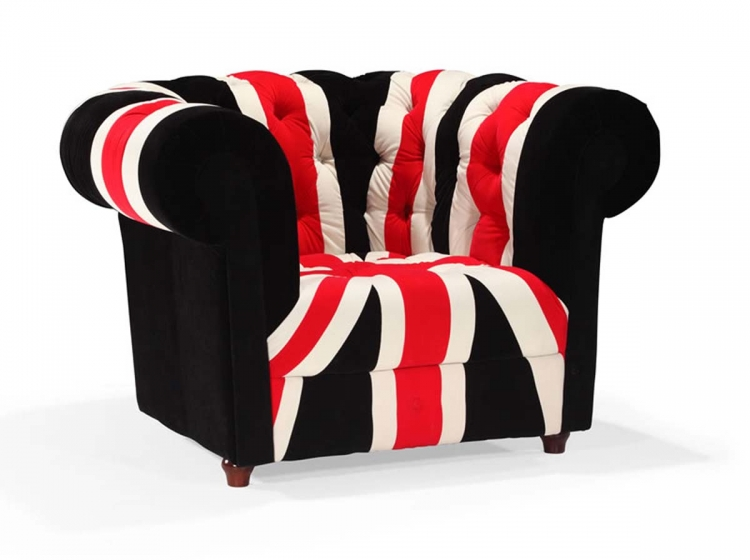 Union Jack Armchair - Red, White & Black