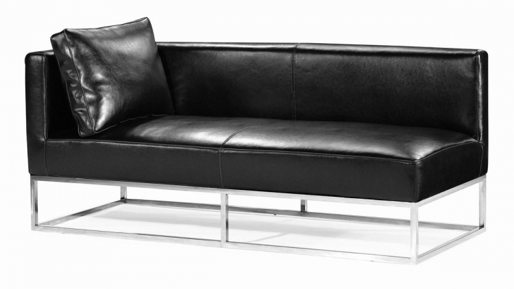 Atom Bench - Black - Left Facing - Zuo Modern
