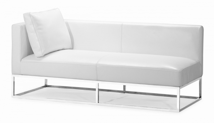 Atom Bench - White - Left Facing - Zuo Modern