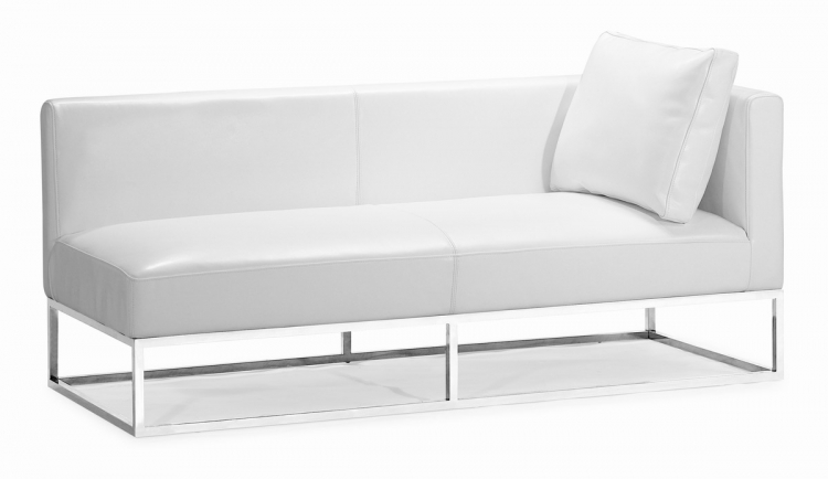 Atom Bench - White - Right Facing - Zuo Modern